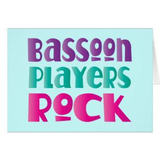 カラフルなバスーンプレーヤーのロック・ミュージックのギフト カード