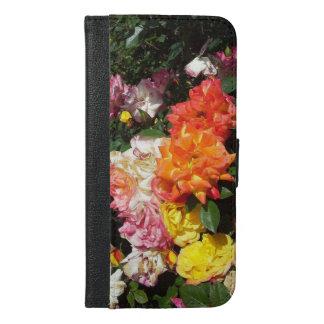 カラフルなバラ iPhone 6/6S PLUS ウォレットケース