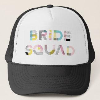カラフルなパターンタイポグラフィのモダンな花嫁の分隊の帽子 キャップ