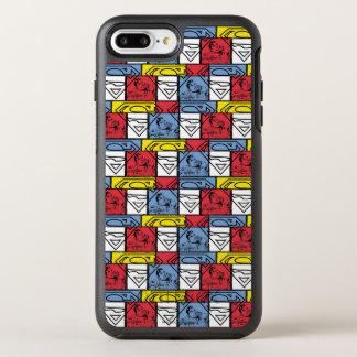 カラフルなパターン盾 オッターボックスシンメトリーiPhone 8 PLUS/7 PLUSケース