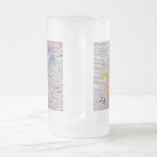 カラフルなパルプのアクセントの手製の紙 フロストグラスビールジョッキ