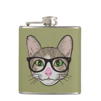 カラフルなヒップスター猫 フラスク