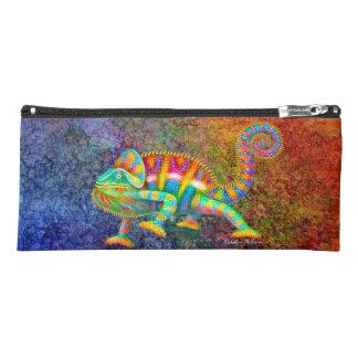 カラフルなヒョウのカメレオンの芸術の筆箱 ペンシルケース