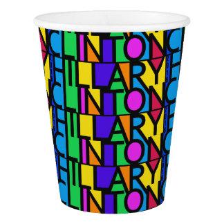 カラフルなヒラリー・クリントン2016の紙コップ 紙コップ