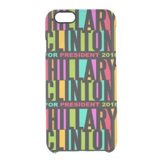 カラフルなヒラリー・クリントン2016の電話箱 クリアiPhone 6/6Sケース