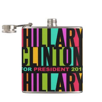 カラフルなヒラリー・クリントン2016個のフラスコ フラスク
