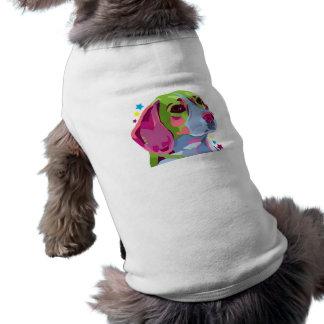 カラフルなビーグル犬の小犬のTシャツ ペット服
