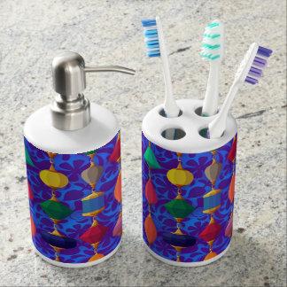 カラフルなビーズの繊維の浴室セット バスセット
