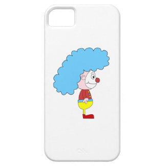 カラフルなピエロの漫画。 青い毛 iPhone SE/5/5s ケース