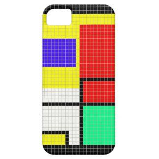 カラフルなピクセルパターン電話箱 iPhone SE/5/5s ケース
