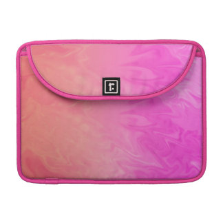 カラフルなピンクのオレンジ質 MacBook PROスリーブ