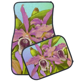 カラフルなピンクの蘭 カーマット