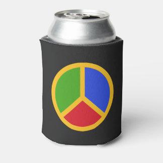 カラフルなピースサインのカスタムなモノグラムの飲み物のクーラー 缶クーラー