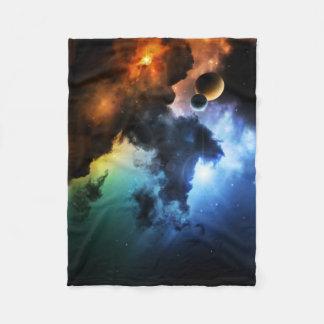 カラフルなファンタジーの星雲の小さいフリースブランケット フリースブランケット