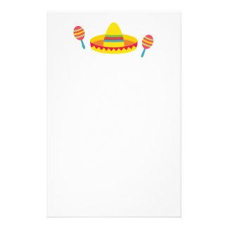 カラフルなフェスタのソンブレロの帽子Maracas 便箋