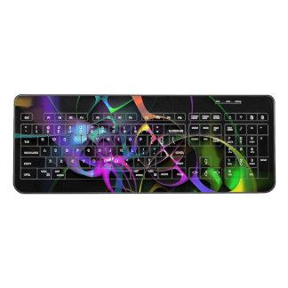 カラフルなフラクタルの芸術 ワイヤレスキーボード