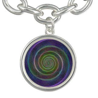 カラフルなフラクタルの螺線形 ブレス
