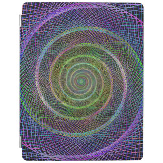 カラフルなフラクタルの螺線形 iPadスマートカバー