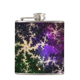 カラフルなフラクタルの銀河系のフラスコ フラスク