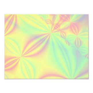 カラフルなフラクタルパターン カード