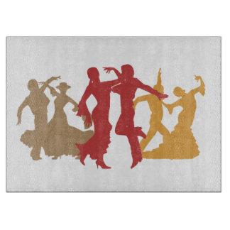 カラフルなフラメンコのダンサー カッティングボード