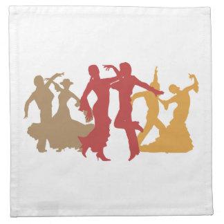 カラフルなフラメンコのダンサー ナプキンクロス