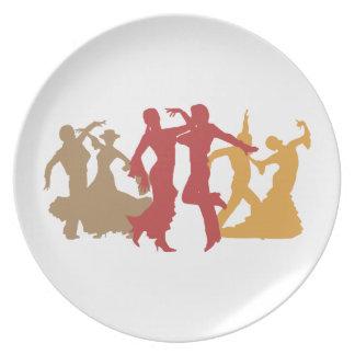 カラフルなフラメンコのダンサー プレート