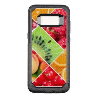 カラフルなフルーツのコラージュパターンデザイン オッターボックスコミューターSamsung GALAXY S8 ケース
