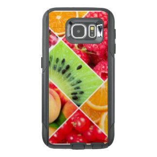 カラフルなフルーツのコラージュパターンデザイン オッターボックスSamsung GALAXY S6ケース