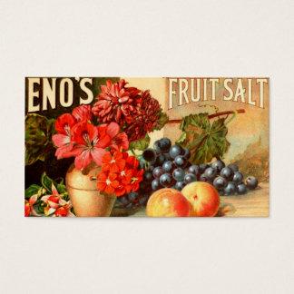 カラフルなフルーツの塩の広告 名刺