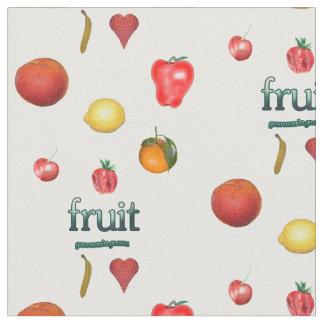 カラフルなフルーツの生地 ファブリック
