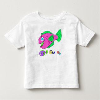 カラフルなベクトル魚家族 トドラーTシャツ