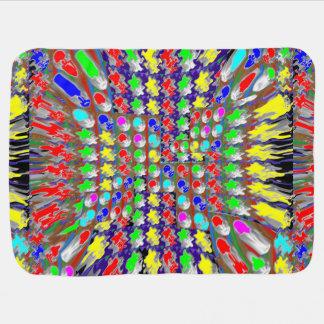 カラフルなベビーブランケットのファンタジーのグラフィックの抽象的 ベビー ブランケット