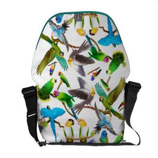 カラフルなペット鳥の人力車のメッセンジャーバッグ メッセンジャーバッグ