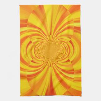 カラフルなペンキの虹の抽象美術2 キッチンタオル