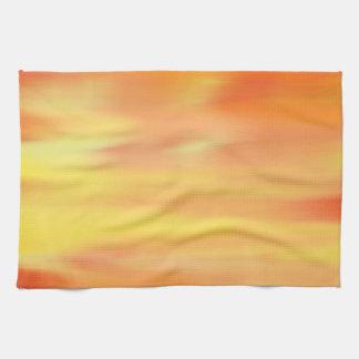 カラフルなペンキの虹の芸術2 キッチンタオル