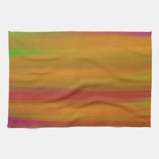 カラフルなペンキの虹の芸術4 キッチンタオル