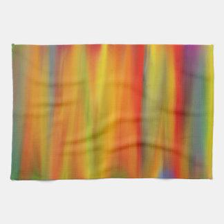カラフルなペンキの虹の芸術5 キッチンタオル