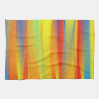 カラフルなペンキの虹の芸術 台所タオル