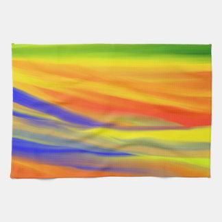 カラフルなペンキの虹3 キッチンタオル