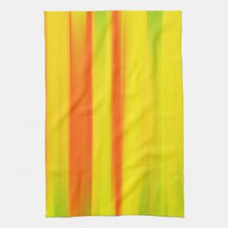 カラフルなペンキの虹 キッチンタオル