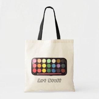 カラフルなペンキ箱の虹 トートバッグ
