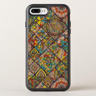 カラフルなボヘミアの曼荼羅のパッチワーク オッターボックスシンメトリーiPhone 8 PLUS/7 PLUSケース
