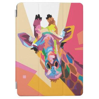 カラフルなポップアートのキリンのポートレート iPad AIR カバー