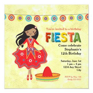 カラフルなメキシコフェスタの子供の誕生日のパーティ カード