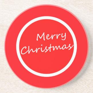 カラフルなメリークリスマスのコースター! コースター