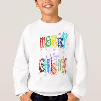 カラフルなメリークリスマスのワイシャツ スウェットシャツ