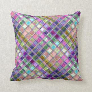 カラフルなモザイク・ガラスの芸術の枕 クッション