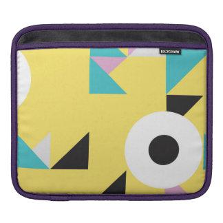 カラフルなモダンなデザインの背景のiPadカバー iPadスリーブ