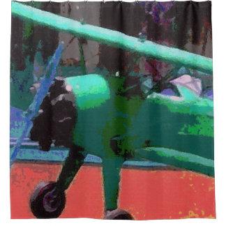 カラフルなモデル飛行機 シャワーカーテン